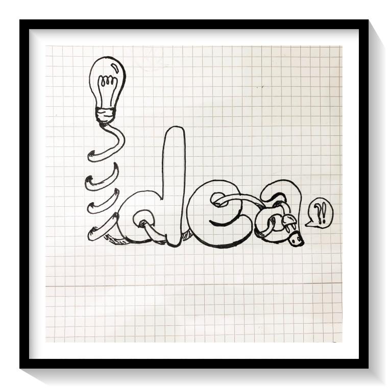 disegno di un'idea non riuscita