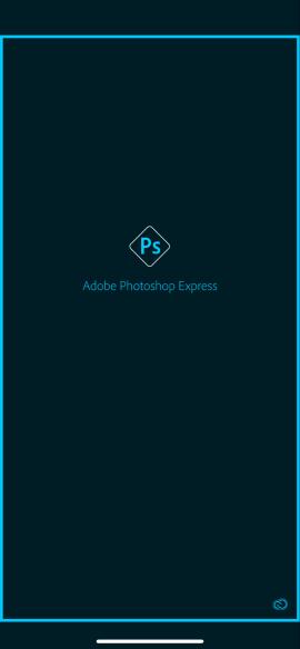 Schermata iniziale di Photoshop per iPhone
